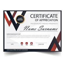 elegance horizontal certificate with vector illustration white