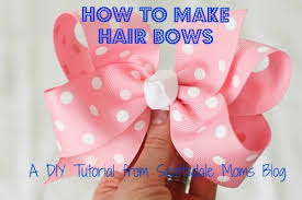 how to make hair bow how to make hair bows a diy tutorial