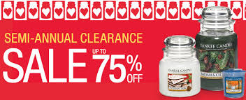 yankee candle semi annual clearance sale up to 75 candles
