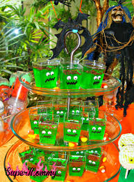 frankenstein jello cups halloween party food for kids