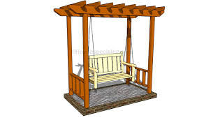 arbor swing plans garden arbor designs howtospecialist how to build step by with