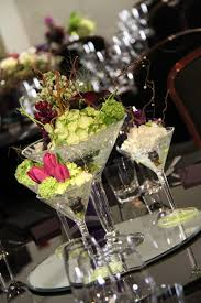 mini martini glasses flower design table centrepieces mini martini glasses table design