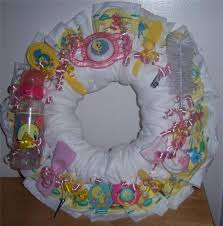 baby shower looney tunes diaper wreath taz tweety bugs bunny