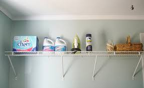 Shelf Ideas For Laundry Room - diy laundry room storage ideas pipe shelving