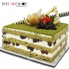 Matcha Bean Cake Delivery Singapore