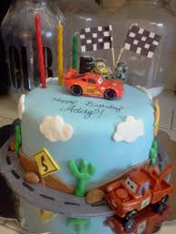 cars birthday cake for a 3 year old that loves the movie all