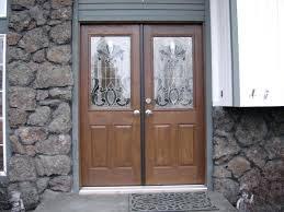 fiberglass double front doors entry with sidelites modern door