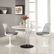 modern white round dining table dining room special riley ave dining table slim chrome finished