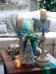 popular small plants christmas centerpieces on coffee table with