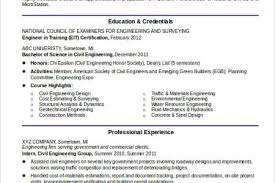 Sample Civil Engineering Resume by Civil Engineer Resume Entry Reentrycorps
