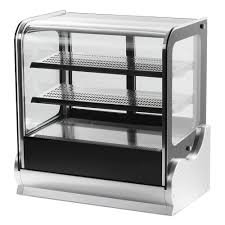 glass counter display cabinet vollrath 40863 48 cubed glass refrigerated countertop display cabinet