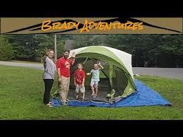 coleman evanston 6 screened porch tent setup and teardown youtube