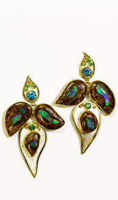 blue opal earrings 225 best boulder opal earrings images on pinterest opal earrings