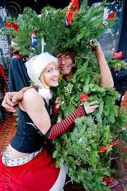 christmas tree costume santacon