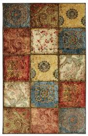 Patchwork Area Rug Mohawk Home Free Flow Artifact Panel Multicolor