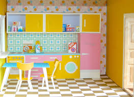 vintage dollhouse kitchen paper toy pdf print and make your zoom