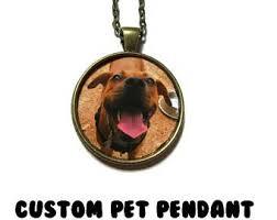 Personalized Cat Necklace Custom Cat Portrait Pendant Silver Plated Chain Ceramic Cat