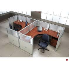 Office Desk Workstation The Office Leader 2 Person L Shape Office Desk Cubicle Cluster
