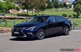 lexus sports car blue 2016 lexus es 350 sports luxury review video performancedrive