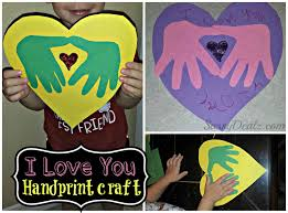 Kids Handprint Crafts Diy I Love You Handprint Craft For Kids Great Keepsake Gift