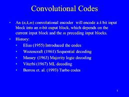 Trellis Encoder 1 Convolutional Codes An N K M Convolutional Encoder Will Encode