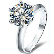 ring weeding hot 2 carat synthetic sona engagement rings for women