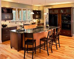 kitchen island with stove and breakfast bar kitchen and decor