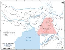 Ww2 Europe Map by Map Of Wwii India And Burma 1942 43
