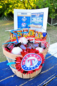 baseball gift basket themed gift basket