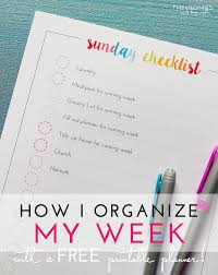 organized home printable menu planner how i organize my week with a printable weekly schedule the