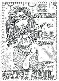 coloring pages mermaids poster gypsy soul by chubby mermaid etsy com my posh coloring