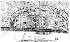 Savannah Map French Map Of Siege Of Savannah