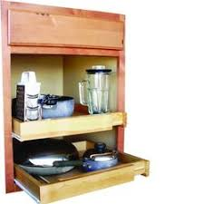 Rebrilliant Bamboo Expandable Kitchen Cabinet Pull Out Drawer - Kitchen cabinet pull out