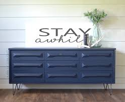 farmhouse modern midnight blue dresser a ray of sunlight