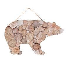 bear cork board wall hanging