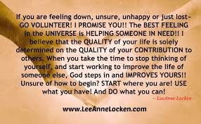 quote for volunteers motivation inspiration by leeanne locken november 2013