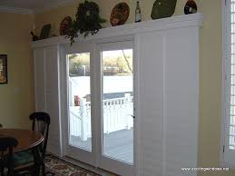 Patio Door Window Panels Sliding Glass Door Window Treatment Ideas Vertical Woven Wood