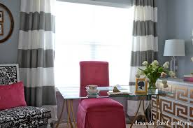 Pink And White Curtains Ideas U0026 Tips Horizontal Striped Curtains With White Wall For