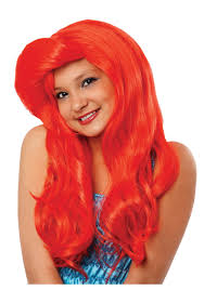 Mermaid Halloween Costume Toddler Kids Mermaid Wig