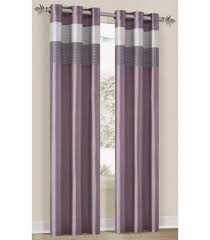Silver Window Curtains Bedding Chelsea Lavender Silver Plum Grommet Window Curtain Panel