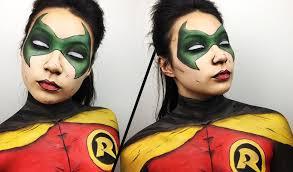 Halloween Makeup Comic Robin Makeup Tutorial Youtube