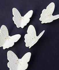 large wall art 15 porcelain 3d butterflies white butterfly u0026