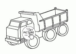 simple dump truck coloring page for kids transportation coloring