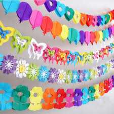aliexpress com buy hanging paper chain flower butterfly banner