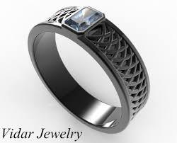 sapphire and wedding band s radiant cut blue sapphire wedding band vidar jewelry
