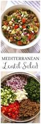 mediterranean lentil salad with an easy homemade vinaigrette or