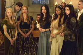 reign cw show hair weave beads high fashion historic hybrid the costume design of reign