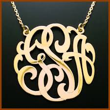 initial monogram necklace 1 0 14k gold three initial monogram necklace sm3mono 355 50