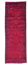 Red Runner Rug Overdyed Runner Rug Envialette