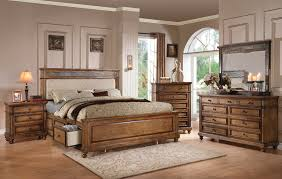 arielle oak 4pc california king storage bedroom set 24454ck